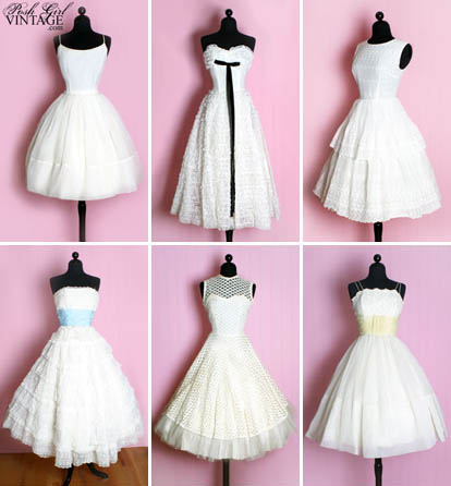 Vintage wedding dresses from Posh Girl Vintage