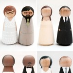 Wedding Cake Toppers from Goose Grease and Chapeau de Gateau