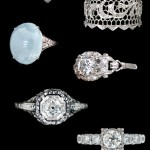 Antique Diamond Engagement and Wedding Rings from Alexandria Rossoff