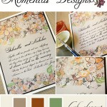 Custom Hand Painted Wedding Invitations from Momental Designs