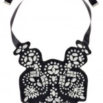 Black and White Bridal Bib Necklaces