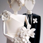 Custom Paper Wedding Cake Toppers from Concarta