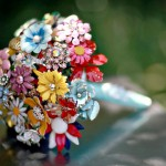 Vintage Brooch Bridal Bouquets from Fantasy Floral Design