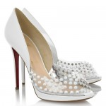 New White and Metallic Wedding Shoes