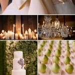 Cream, Crystal and Metallic Wedding Color Ideas