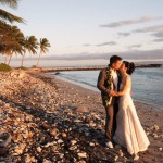 Tropical Green, Fuchsia and Purple Hawaii Destination Wedding – Kelly and James