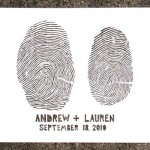 Custom Cut Paper Fingerprint Art by Lori Danelle
