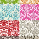 Colorful Custom Damask Wedding Linens