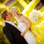 Black, White and Yellow Modern California Wedding – Heather and Ryan