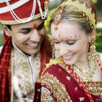 Traditional Indian Ceremony and Modern Peacock Themed Wedding Reception – Anne and Neil