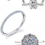 Classic Diamond Engagement and Wedding Rings