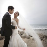 Charcoal, Silver, White and Peach Wedding at The Ritz-Carlton Laguna Niguel – Julia and Ryan