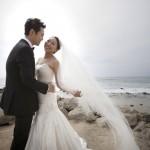 Charcoal, Silver, White and Peach Wedding at The Ritz-Carlton Laguna Niguel – Julia and Ryan