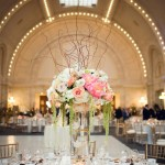 Grand and Romantic Ivory, Champagne, Gold and Peach Seattle Wedding at Union Station