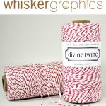 Colorful Baker's Twine and Paper Wedding Favor Bags from Whisker Graphics