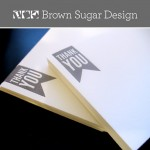 Giveaway! 50 Stylish Letterpress Thank You Notes from Brown Sugar Design!