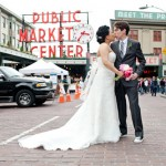 Modern, Springtime City Wedding in Seattle – Jessica and Steven