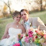 Vintage Coral and Turquoise Wedding Decor and Floral Ideas on the Shores of Lake Michigan