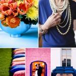 Blue, Orange and Pink Wedding Color Palette