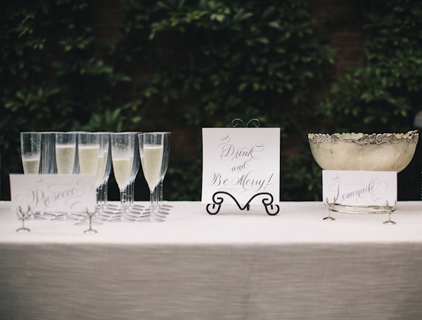 Elegant blush, cream and gray Garden wedding in Atlanta, Georgia, photos by Vue Photography | via junebugweddings.com