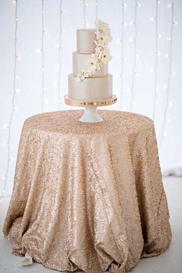 shimmering gold silver and cream wedding color inspiration via junebugweddingscom