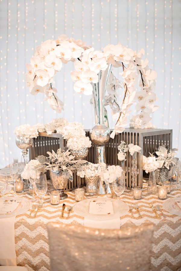 Shimmering Gold Silver And Cream Wedding Color Inspiration Via Junebugweddings
