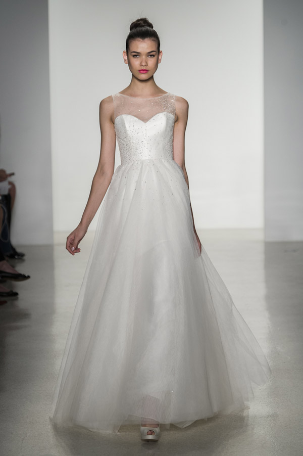 Wedding Dress Trends Amsale Illusion Neckline Dresses From Fall 2014 Bridal Market