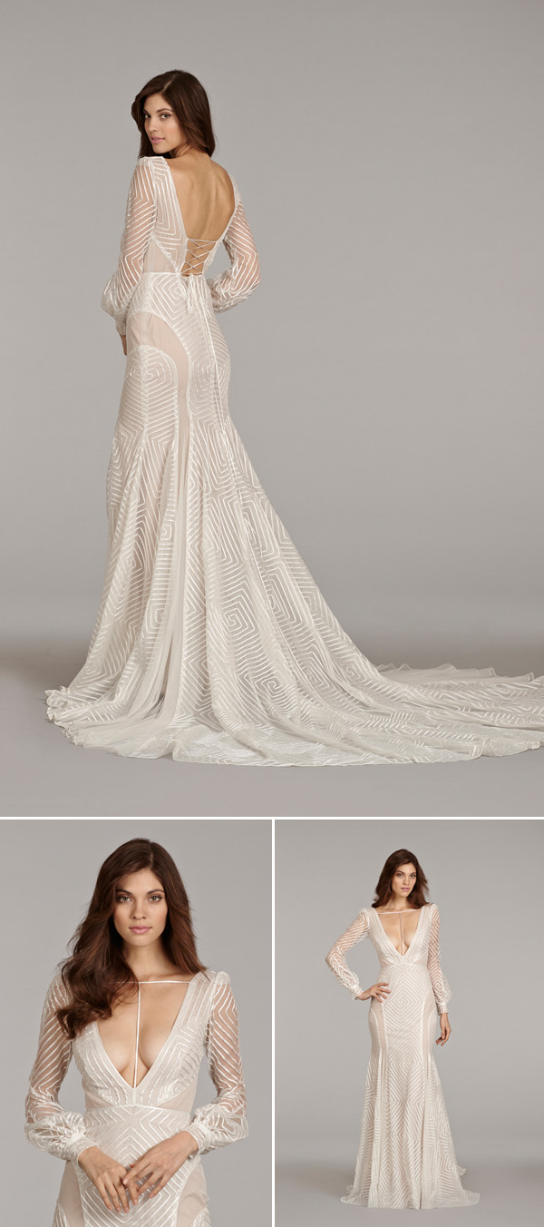 wedding dress trends wedding dresses with beautiful backs from fall bridal market hayley paige wedding dresses wedding dress trends wedding dresses with beautiful backs from fall bridal market via