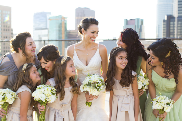 glamorous eco friendly jewish wedding at AT&T center in Los Angeles, California, photos by Callaway Gable | via junebugweddings.com