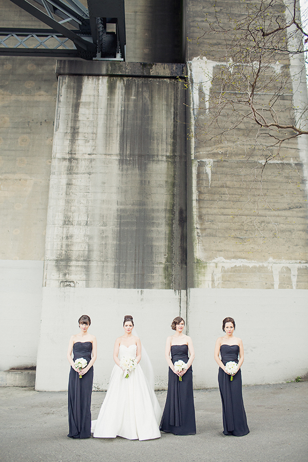 how to achieve a timeless classic bridal party look with photos by Sachin Khona | via junebugweddings.com