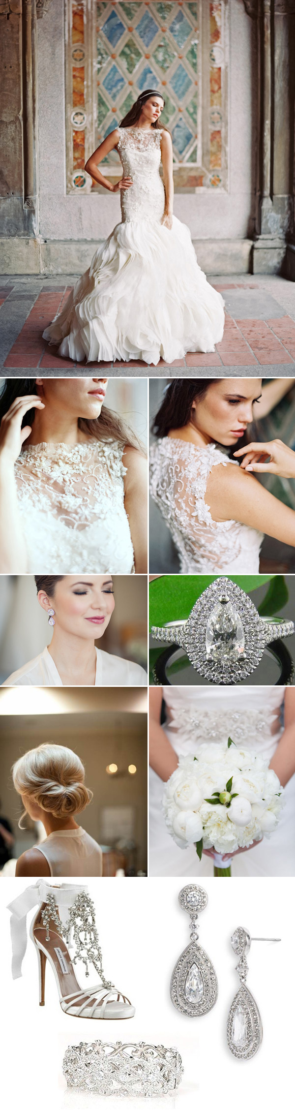 bridal style inspiration boards from bridal market for fall 2014 | via junebugweddings.com