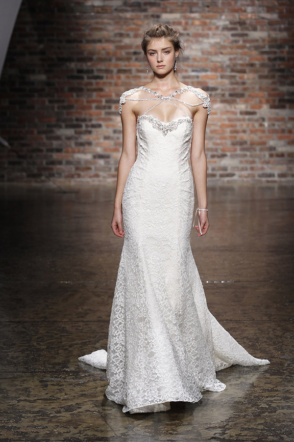 Illusion Neckline Wedding Dresses - Bridal Market | Junebug Weddings