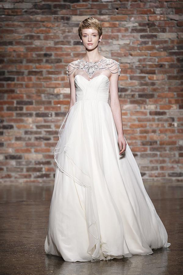 Illusion Neckline Wedding Gowns
