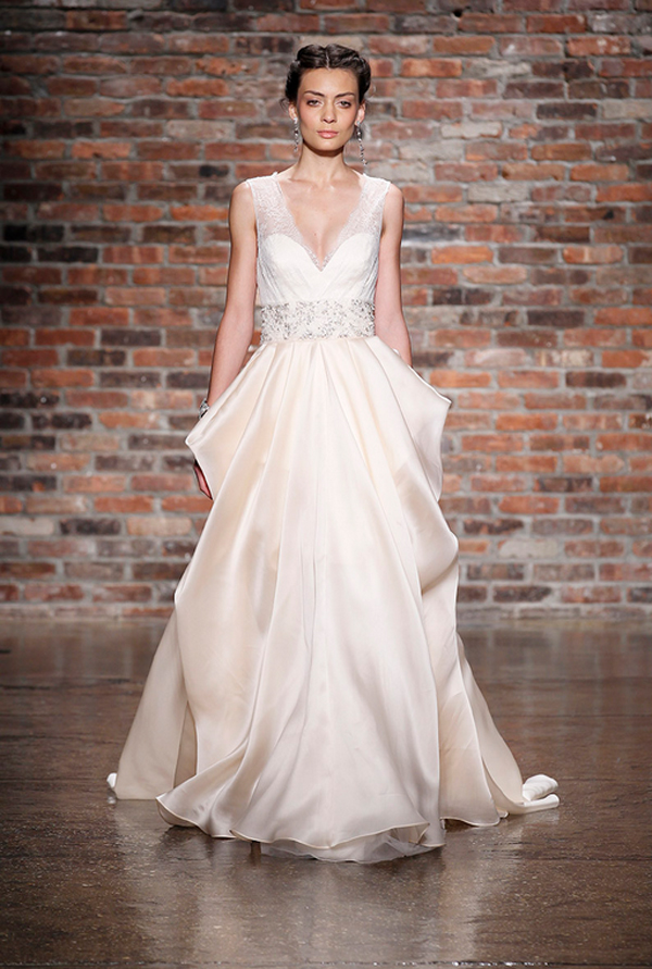 Blush Wedding Dress Trend At Bridal Market For Fall 2014