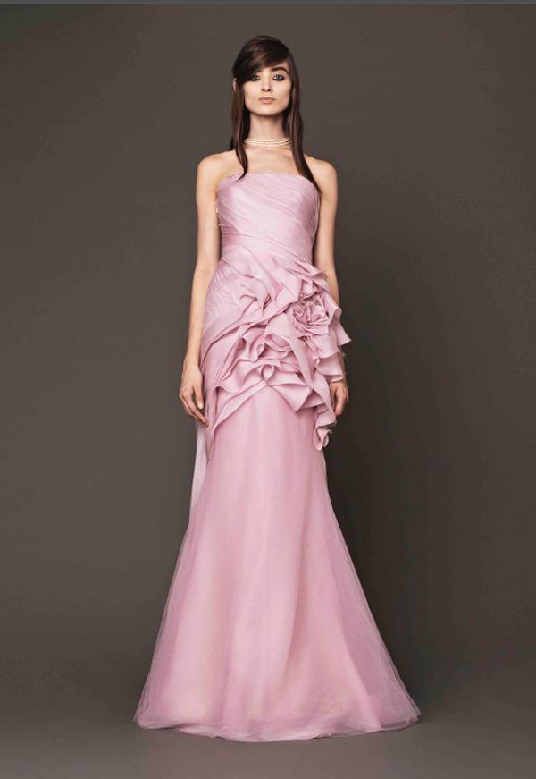 Trend Alert Blush Peach And Pink Wedding Dresses Junebug Weddings