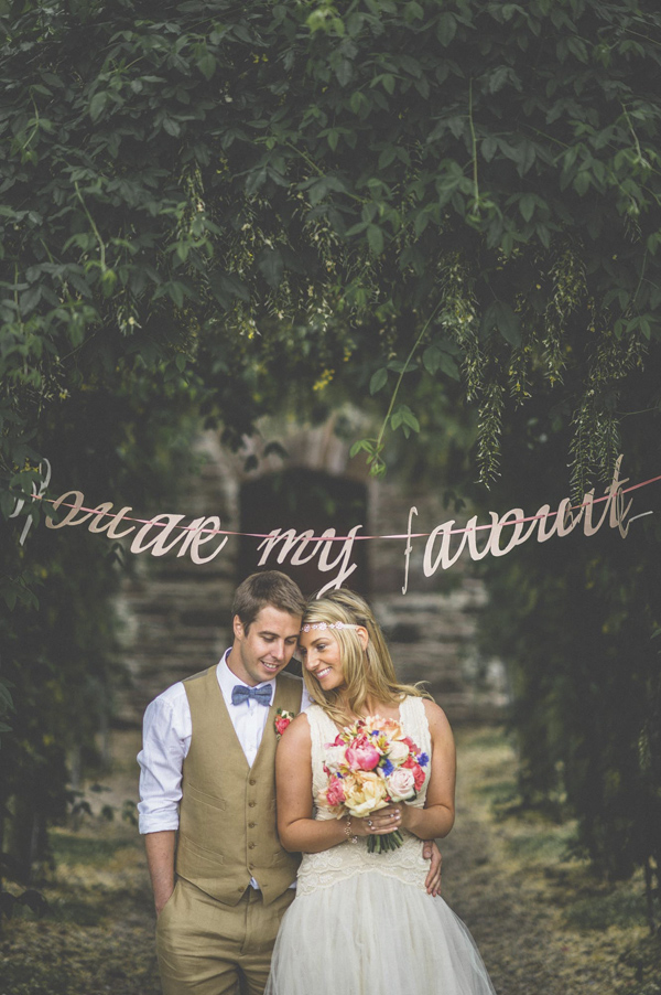 vintage inspired garden wedding in Ireland, photos by Savo Photography | via junebugweddings.com
