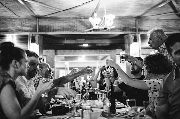 rehearsal dinner and wedding photos of destination wedding in Greece by Adam Alex | via junebugweddings.com