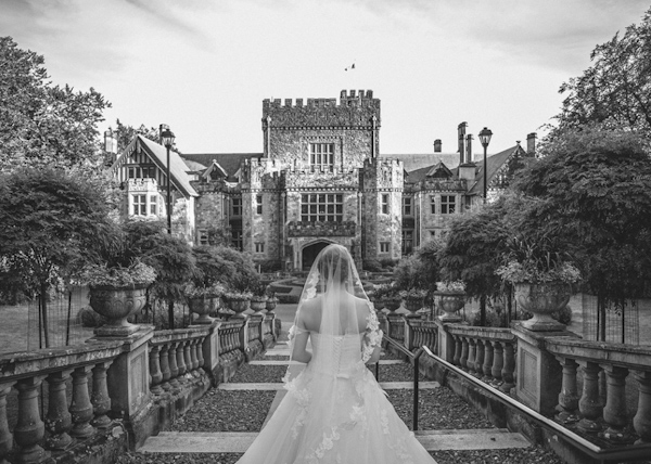 castle wedding at Victoria, British, wedding photo by Ophelia Photography | via junebugweddings.com
