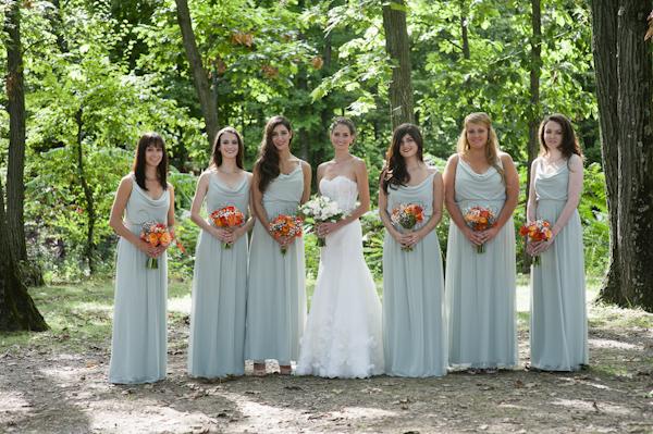 woodland wedding at Benmarl Winery, New York, photo by Richard Israel | via junebugweddings.com