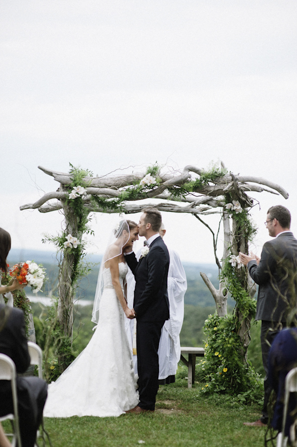 woodland wedding at Benmarl Winery, New York, photo by Richard Israel | via junebugweddings.com
