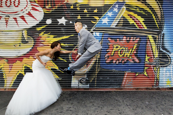 hilarious wedding photo by Nathan Nowack of Nathan Nowack Photography | via junebugweddings.com
