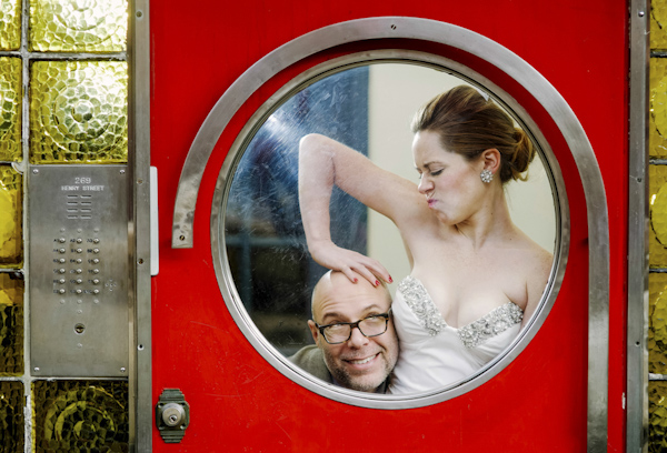 hilarious wedding photo by Tatiana Brewslow Photography | via junebugweddings.com