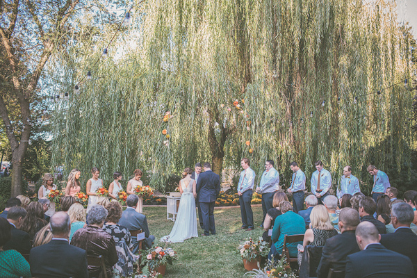 autumnal backyard wedding in Granite Bay, California with photos by Kris Holland Photography | junebugweddings.com (27)