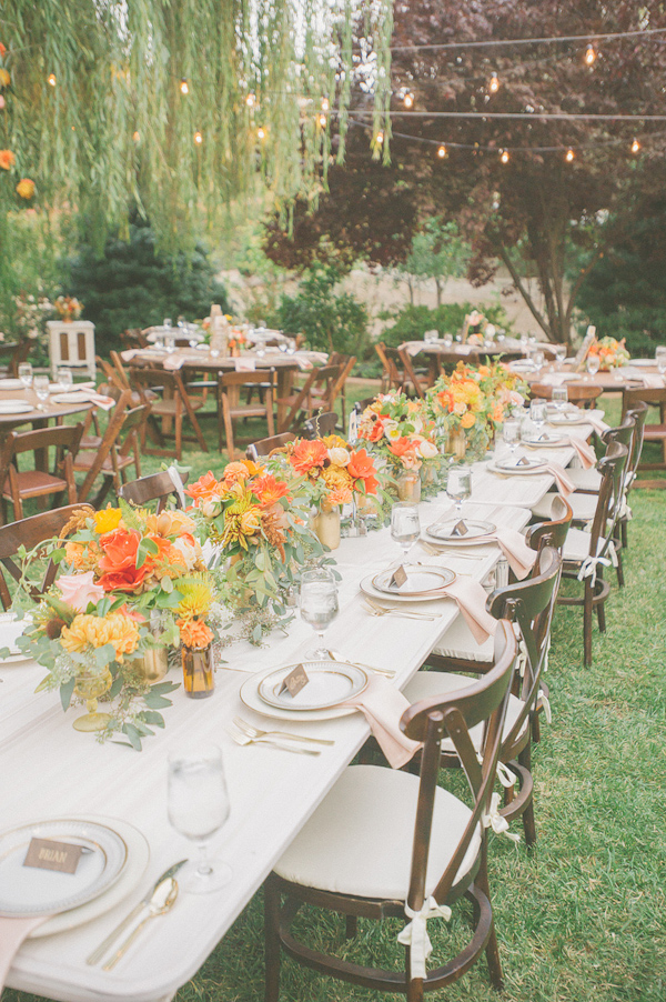 autumnal backyard wedding in Granite Bay, California with photos by Kris Holland Photography | junebugweddings.com (13)