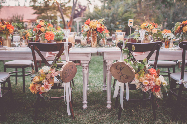 autumnal backyard wedding in Granite Bay, California with photos by Kris Holland Photography | junebugweddings.com (9)
