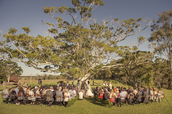 natural green and yellow wedding at Yandida Station, Australia, photo by Studio Impressions | via junebugweddings.com