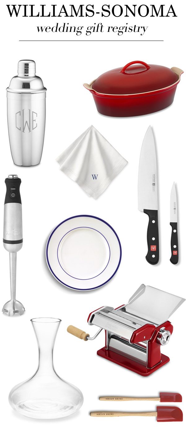 williams sonoma wedding registry for foodies junebug weddings