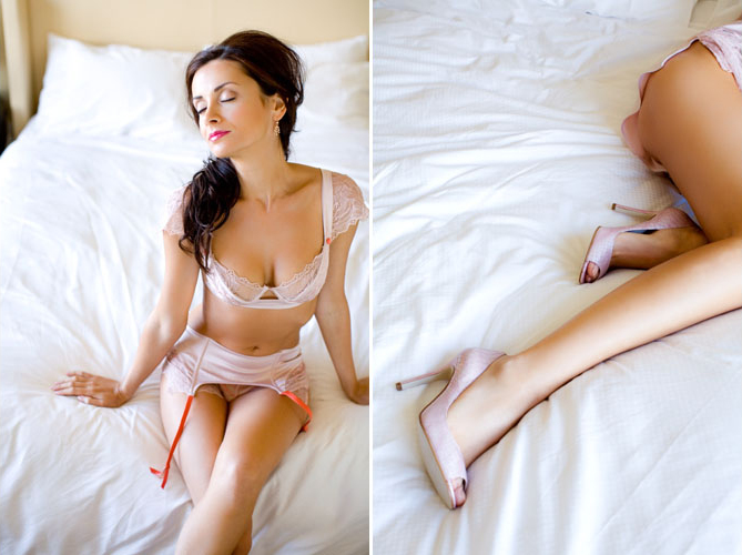 Bridal lingerie from Elle MacPherson Intimates for the honeymoon and happily ever after, images by Junebug Weddings | via junebugweddings.com