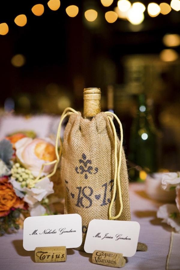 Peach and Gray Winery Wedding at Swiftwater Cellars| Junebug