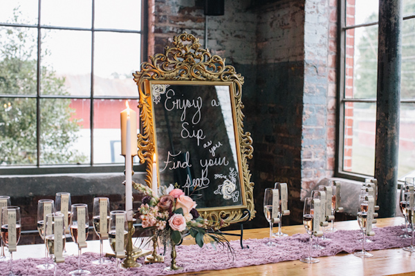 romantic blush and gold wedding inspiration shoot with photos by Vue Photography | via junebugweddings.com